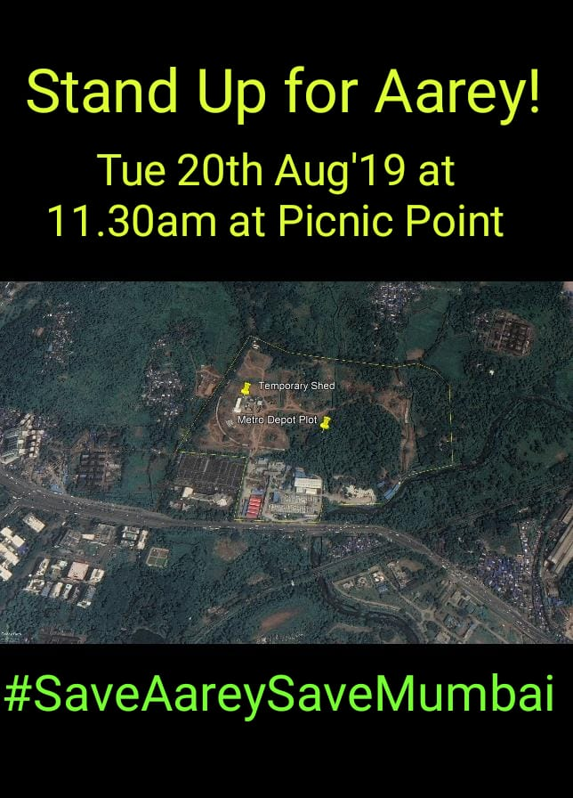 BMCs Tree Authority is visiting Aarey Metro3 Depot plot to see the forested site for themselves Let them see that Mumbai cares! Do join us for a human chain at 11.30am on Tue 20th Aug19 on the road outside Aarey Picnic Point maps.app.goo.gl/c1zvPDPKVWCPct… #SaveAareySaveMumbai 🙏🏻
