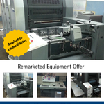 Image for the Tweet beginning: Remarketed Equipment Offer: Heidelberg Speedmaster