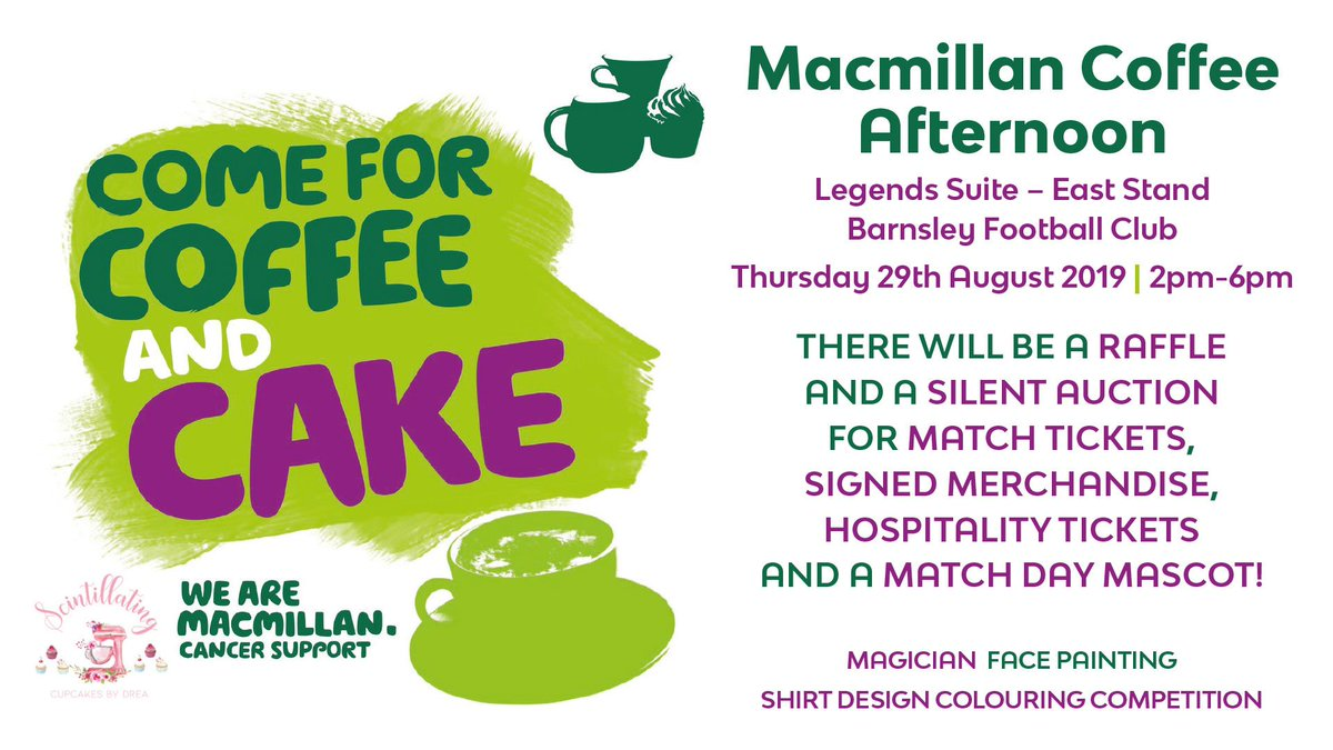 ☕️🍰 Join the first team squad as they aim to raise money for @macmillancancer, with a coffee and cake afternoon at Oakwell! ➡️ bit.ly/MacmillanReds #YouReds