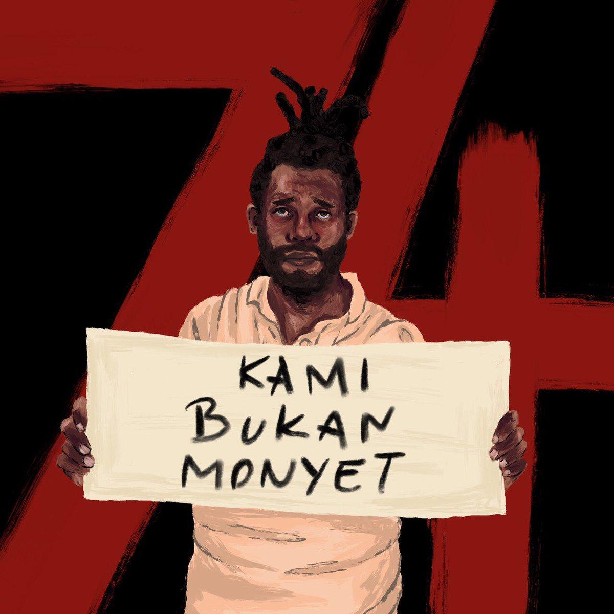 """""""Untuk saudara-saudari Papuaku, kalian berhak untuk merasa aman. Aku menyayangi kalian dan maafkan aku yang tidak bisa berbuat cukup"""".— Ivana Kurniawati"""