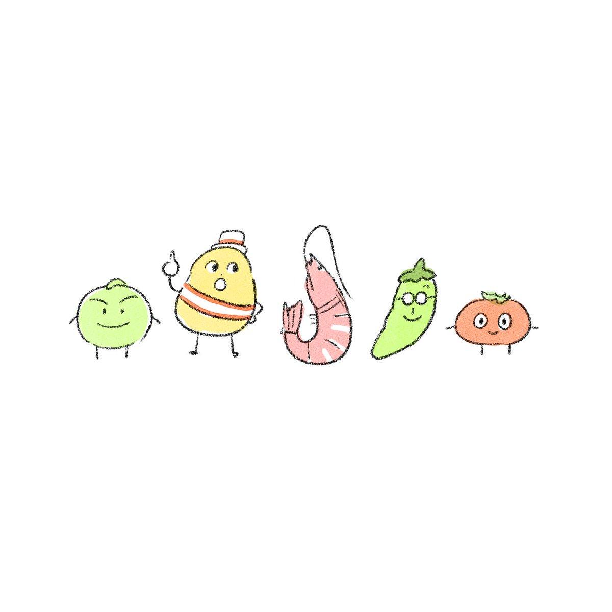 スナック菓子のキャラクター達