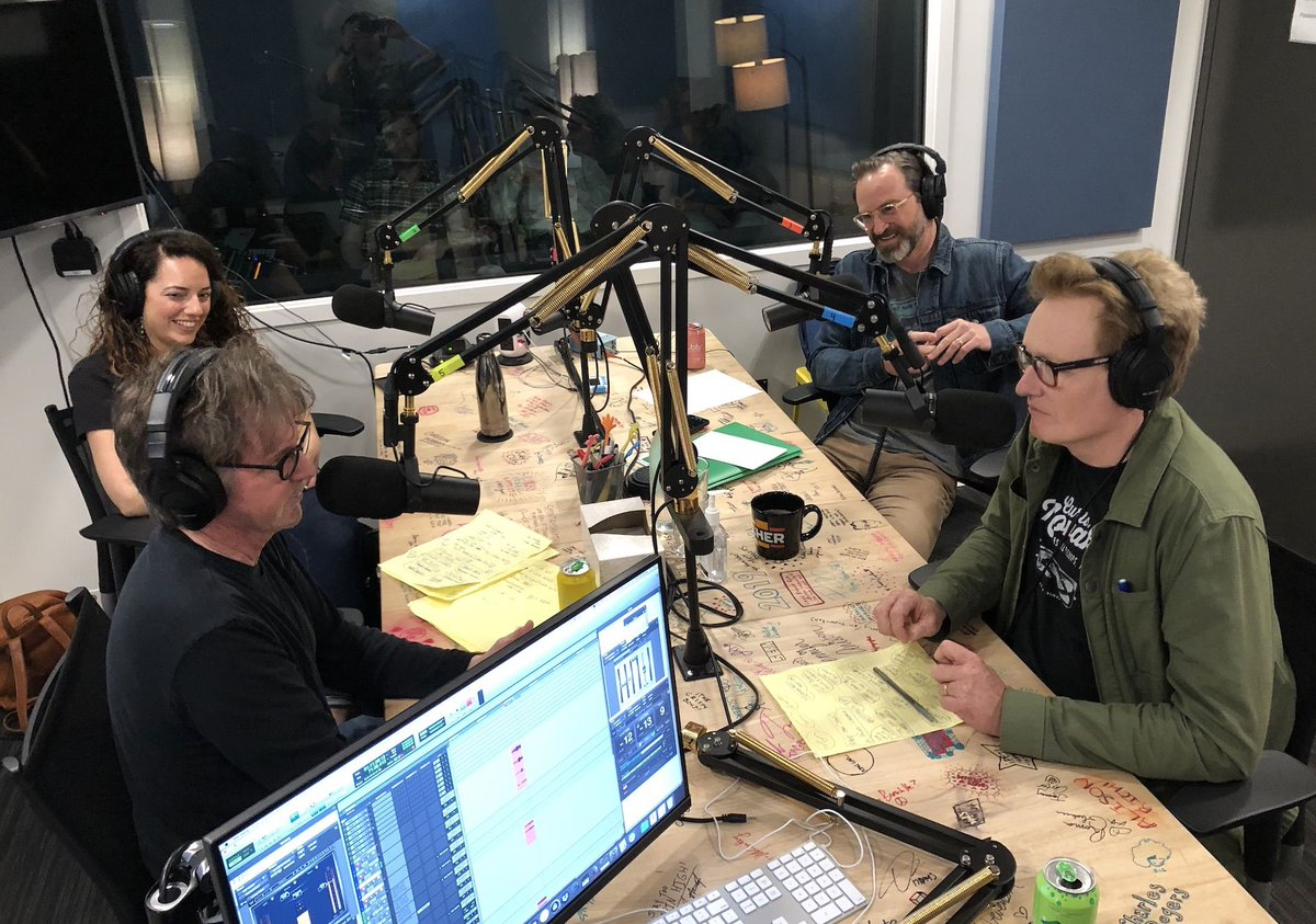 """.@danacarvey channels Johnny Carson, Bradley Cooper, and Lady Gaga this week on """"Deep Dive."""" Listen and subscribe @ http://apple.co/TeamCoco"""