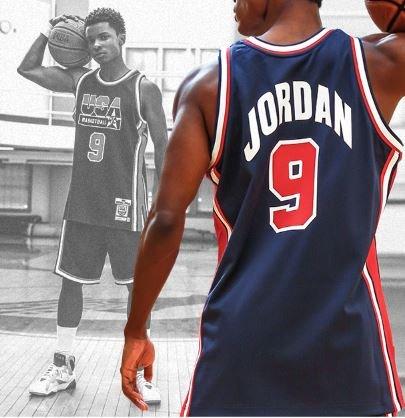 #MJMonday 🇺🇸  Michael Jordan x @mitchell_ness 1992 Dream Team Authentic Jersey http://on.nba.com/2Ze5uhl