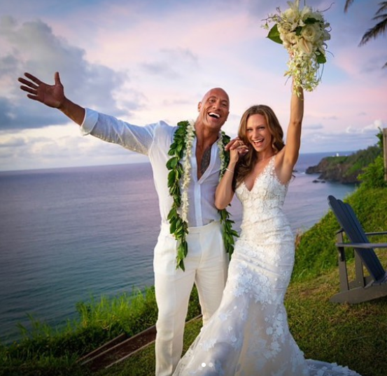 The Rock And Long Time Partner Lauren Hashian Finally Ties The Knot