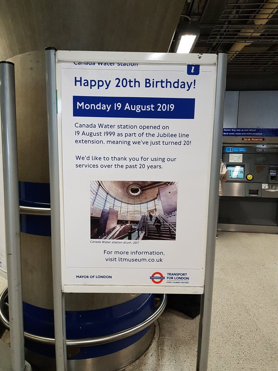 ECVBvq5WsAArHWB - Bermondsey tube celebrates 20 years!