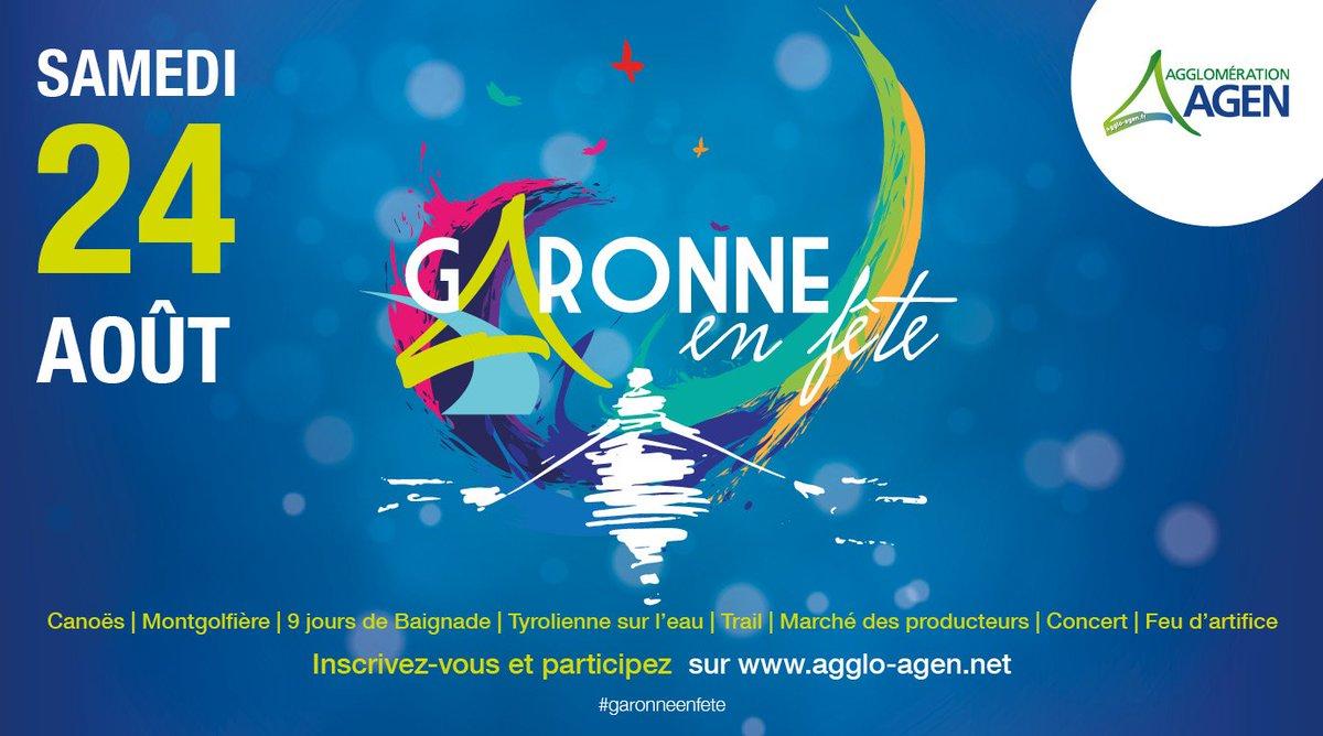 #Garonneenfete 🚣♂️Offrez-vous une rencontre avec Garonne dans une descente en canoë à travers 3 circuits entre St-Sixte et St-Hilaire-de-Lusignan. Plus que quelques jours pour vous inscrire (clôture des inscriptions le 21 août !) : https://www.agglo-agen.net/mes-loisirs/garonne-en-fete-533.html…