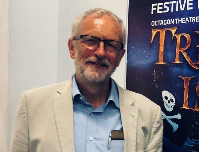 We had an unexpected visitor to our box office & cafe on Sat - @jeremycorbyn popped by to say hello whilst he was in Bolton He was keen to hear about our work with young people & to know more about our redevelopment & the changes were making to become more accessible for all