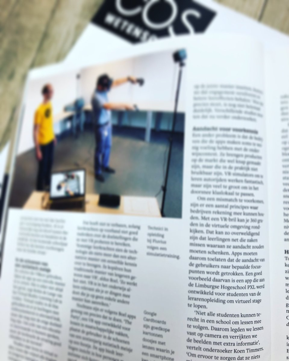 Opinie over #VR in Eos magazine. Biedt Virtual Reality reeds voordelen voor onderwijs?