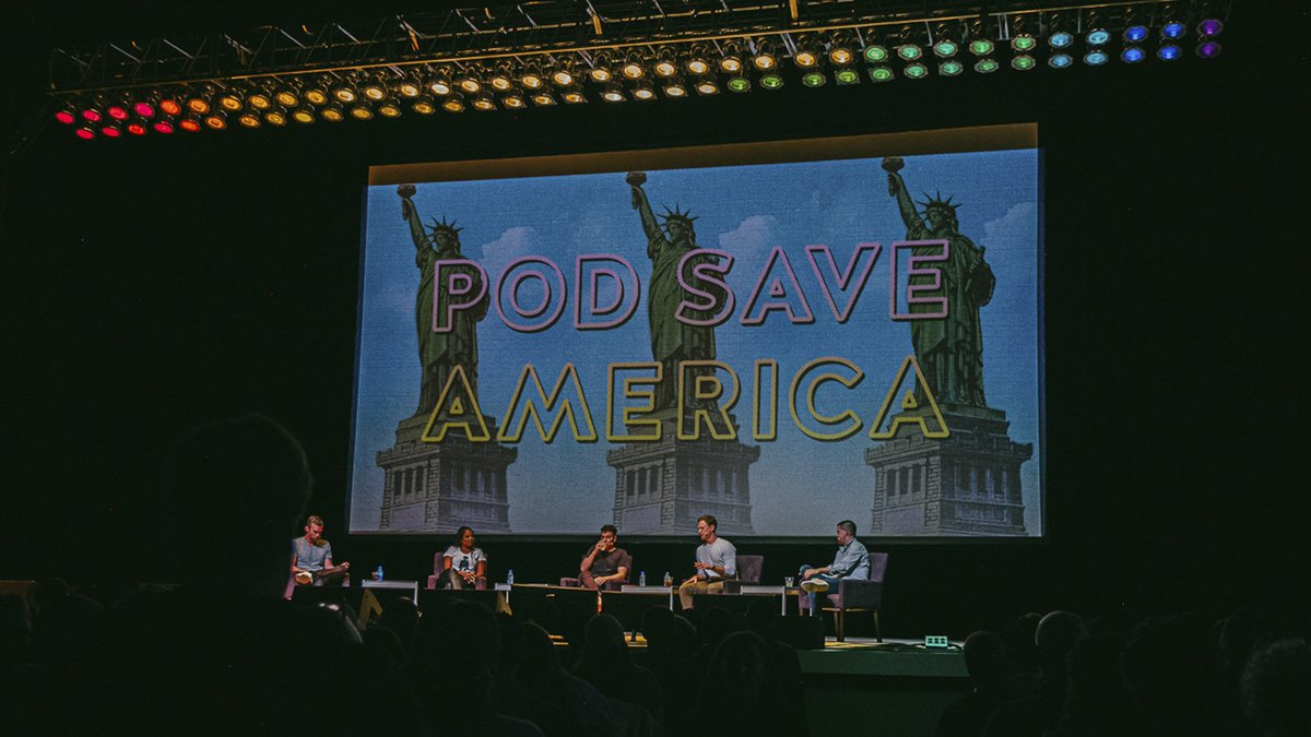 "NEW POD – @jemelehill joins @jonfavs @jonlovett @TVietor08 & @danpfeiffer on stage at The Greek Theatre in Los Angeles to discuss 2020, electability and Stacey Abrams' campaign to protect the vote. ""Vote Save The Greek."" (LIVE from LA!) out now: http://go.crooked.com/YfMdWZ"
