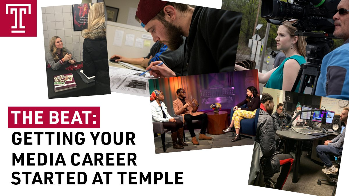 Join @templetv, @TemplarYearbook, @WHIPRADIO and @TheTempleNews on 8/22 to hear about student media opportunities here at @TempleUniv. bit.ly/2z69PEM