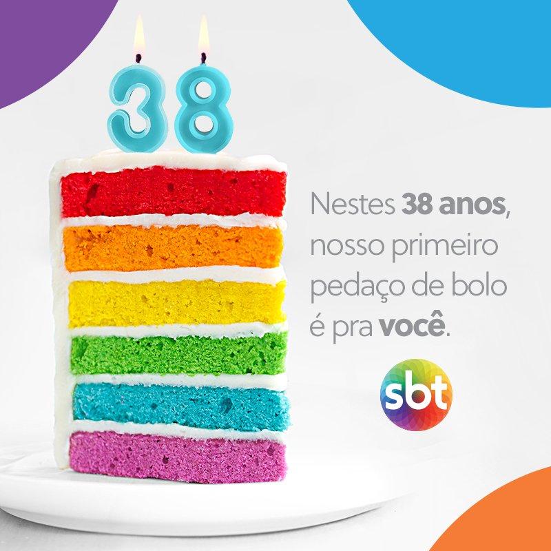 38 anos de alegria e informação para fazer a sua família mais feliz. Parabéns para mim 💚💙❤️💛🧡#SBT #SBTOnline