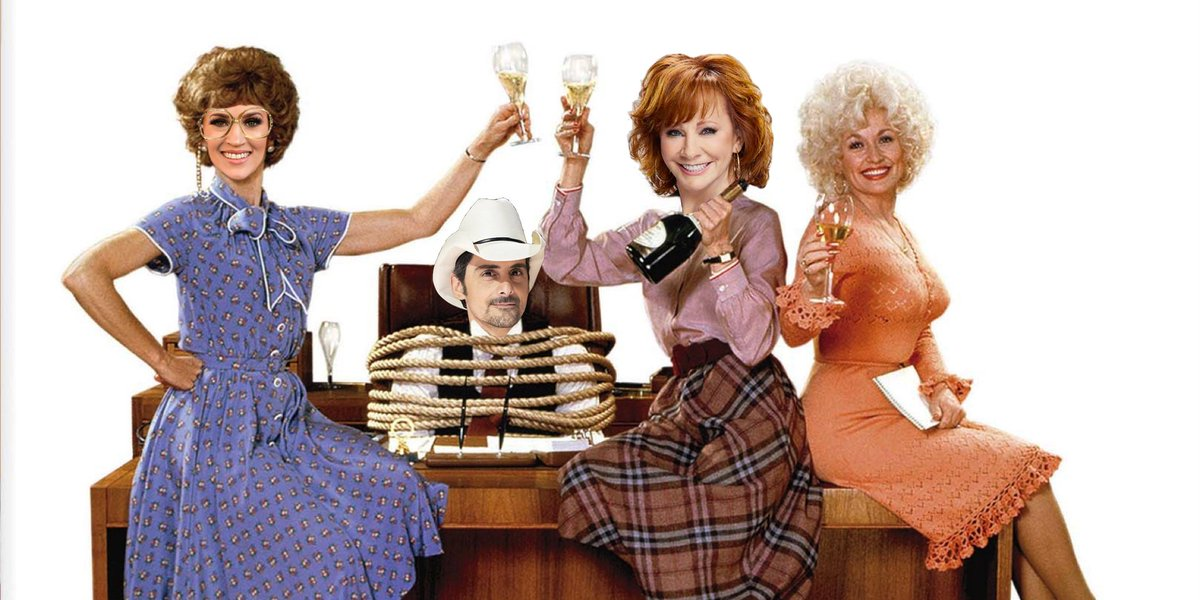 """So @Reba, @DollyParton and @carrieunderwood will be hosting this year's #CMAawards. PLEASE make a recreation of """"9 to 5"""" happen with @BradPaisley  @1065WYRK @CountryMusic  @Clayunplugged @RobBanks_WYRK #ClayandCompany<br>http://pic.twitter.com/HbTod35PsX"""