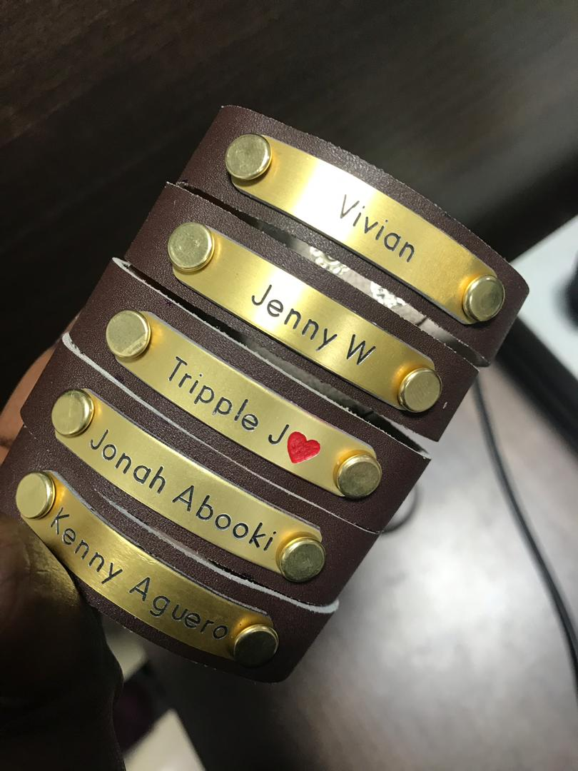 Wassup yo! Just here to thank last week's customers for the support & get some more orders.  Personalised leather bracelets @ 12k ugshs. DM @collins__m Or whatsapp 0754648769 to make an order.  In black & Brown leather. Get yourself. #supportmyhustle Rt for a bro.<br>http://pic.twitter.com/ZVN1VZacj4