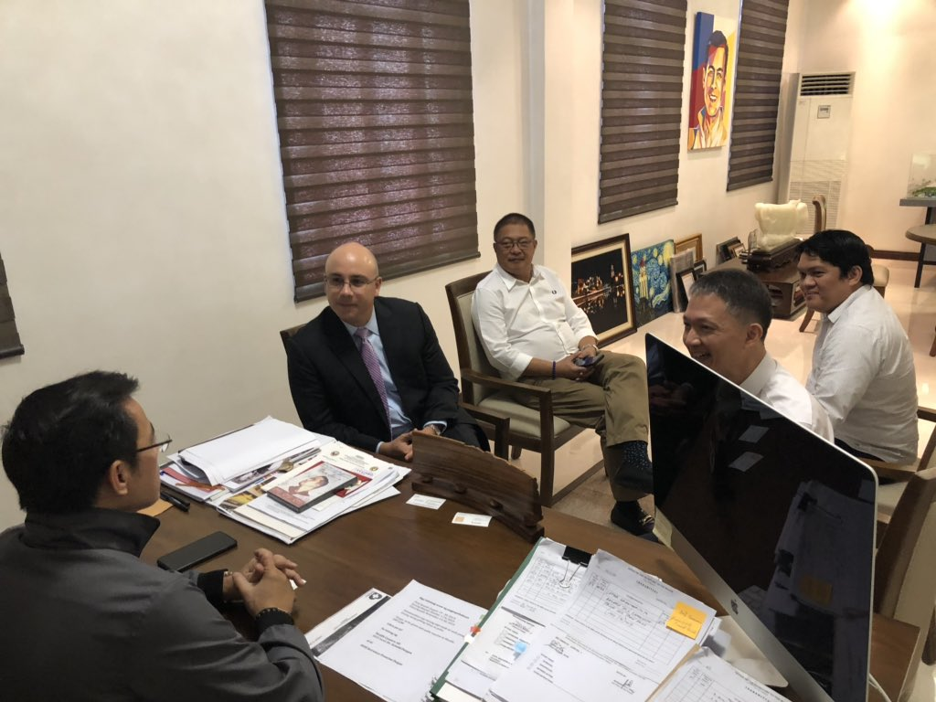 During the courtesy visit to Mayor @IskoMoreno this morning, the officials of Asian Terminals Inc. committed to help the city govt in its plan to redevelop Anda Circle w/c is located at the boundary of Intramuros and Port of Manila. ATI is the operator of Manila South Harbor.