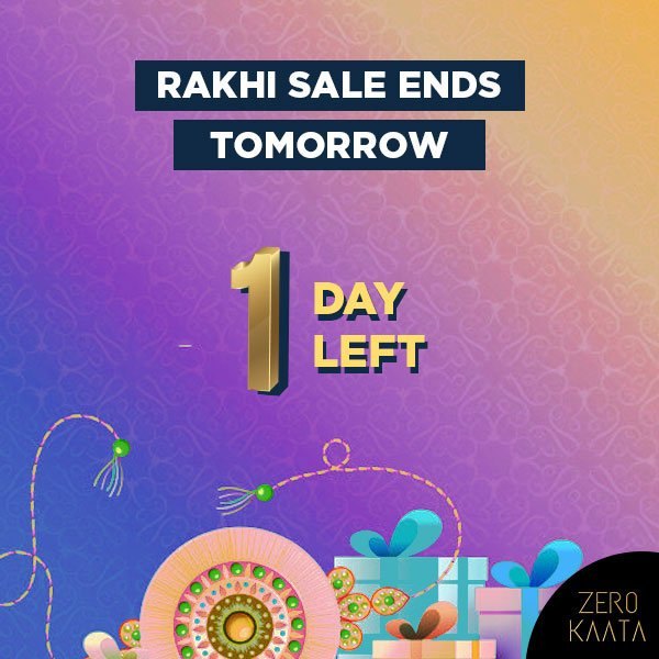 Rakhi sale is coming to an END!Shop now and get upto 80% sitewide + a Free beauty kit with every order of Rs 499 and aboveShop here: http://bit.ly/2T7eM9c#zerokaata #tribalbyzerokaata #rakhigifts #rakhigiftsforsister #giftsforrakhi #rakshabandhanspecial