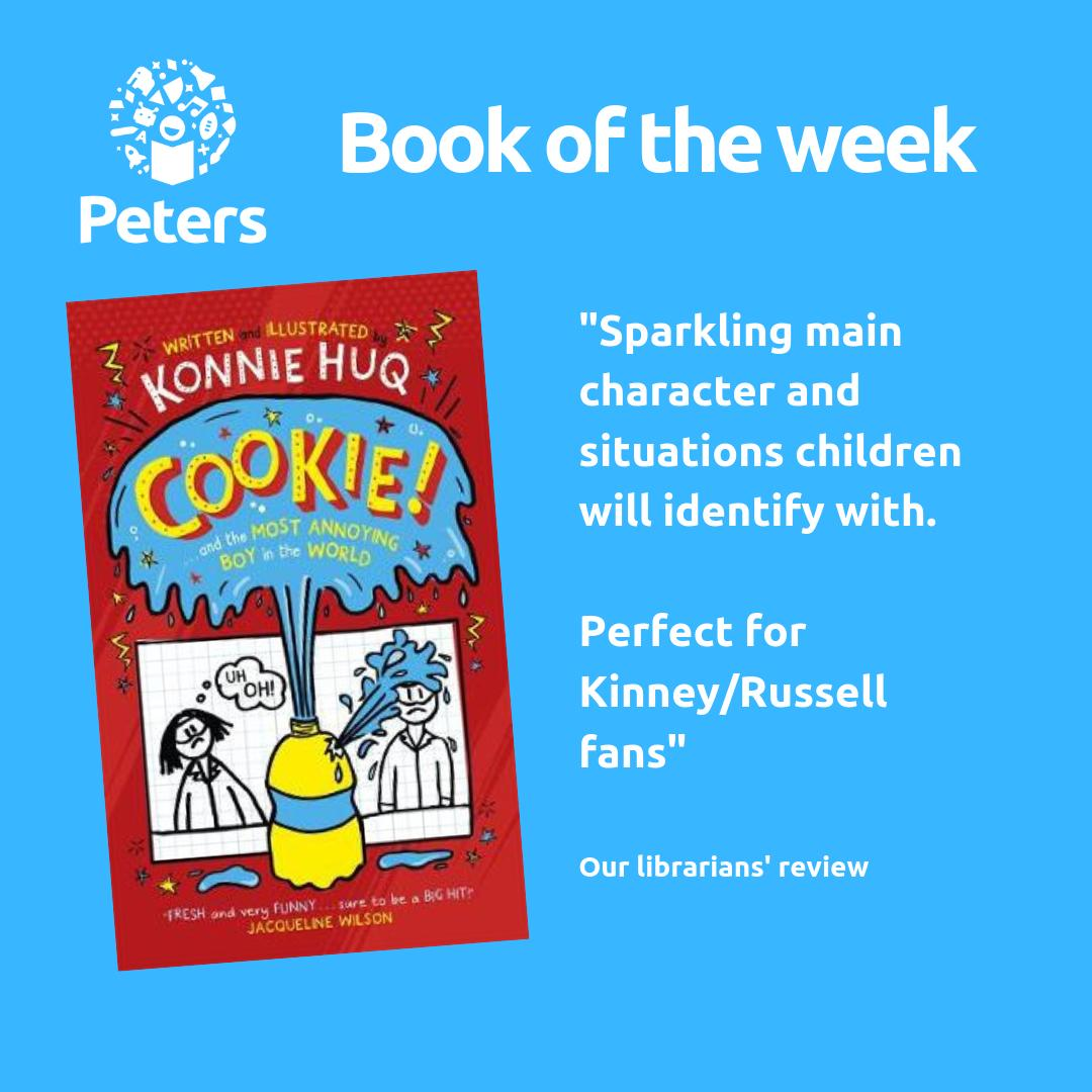 Featuring a sparkling main character and situations children will identify with, this weeks librarians #Bookoftheweek is the fantastic Cookie! and the Most Annoying Boy in the World by @Konnie_Huq, published by @PiccadillyPress.