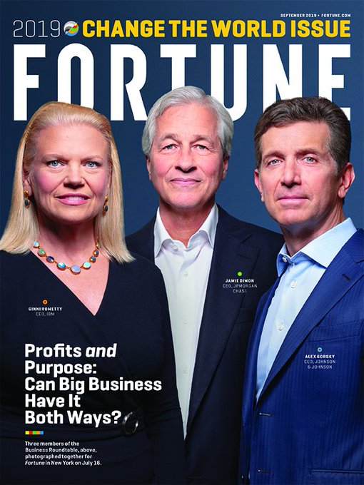 Proud to be featured in @FortuneMagazine #ChangeTheWorld List for a second year running. Inspiring to be working with our customers to move the needle...