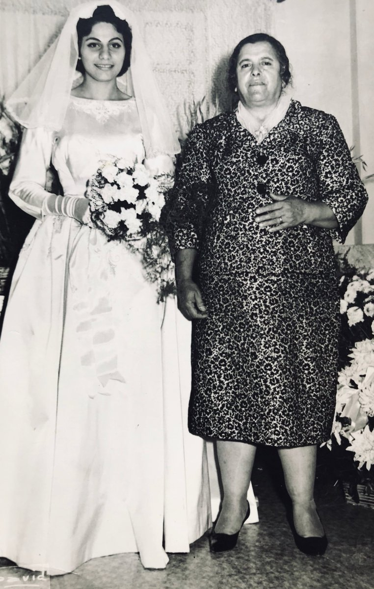 #MyPalestinianSitty   Teta Mariam, born 1905, Jdaideh, Acre District, Palestine. With mum on her wedding day. Two truly amazing women, to whom I owe most everything I know. May they rest in peace  <br>http://pic.twitter.com/XJBHADTsEj