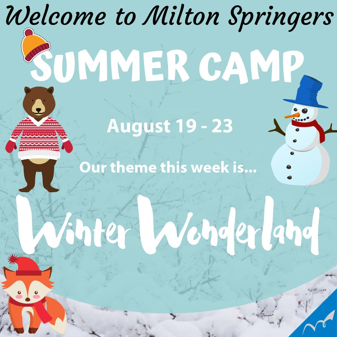 Week 8 summer camp. Theme week Winter Wonderland. #springerpride #summercamp #themeweek #winterwonderland https://t.co/xNbUF3Ltwy