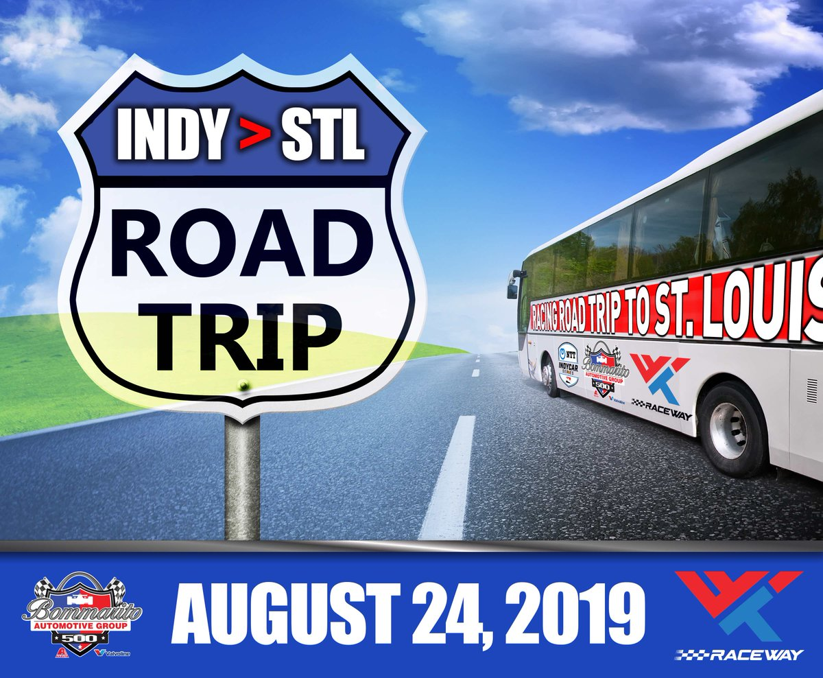 Heading out to @WWTRaceway for the @bommarito500 this weekend? We are giving away 2 pairs of tickets on a luxury coach tour bus from Indy! RT this post, tag the friend you would want to travel with, and include #Bommarito500 & #contest for your chance to win!