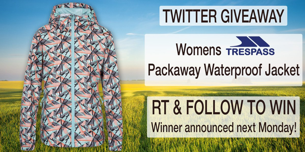 #Trespass Womens #Waterproof #Jacket #Giveaway! #Follow & RT to #win! Ends 26/08 #competition #prize #compers #contest #prizes #comping #prizedraw #MondayMotivation <br>http://pic.twitter.com/Al0GI6Y93Y