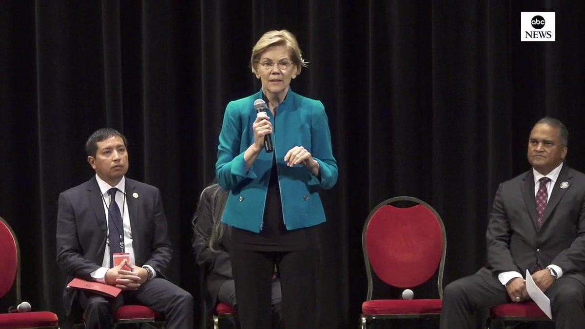 "Sen. Elizabeth Warren at Native American forum: ""I know that I have made mistakes. I am sorry for harm I have caused. I have listened, and I have learned a lot.""""It is a great honor to be able to partner with Indian country...that's what I promise I will do as president."""