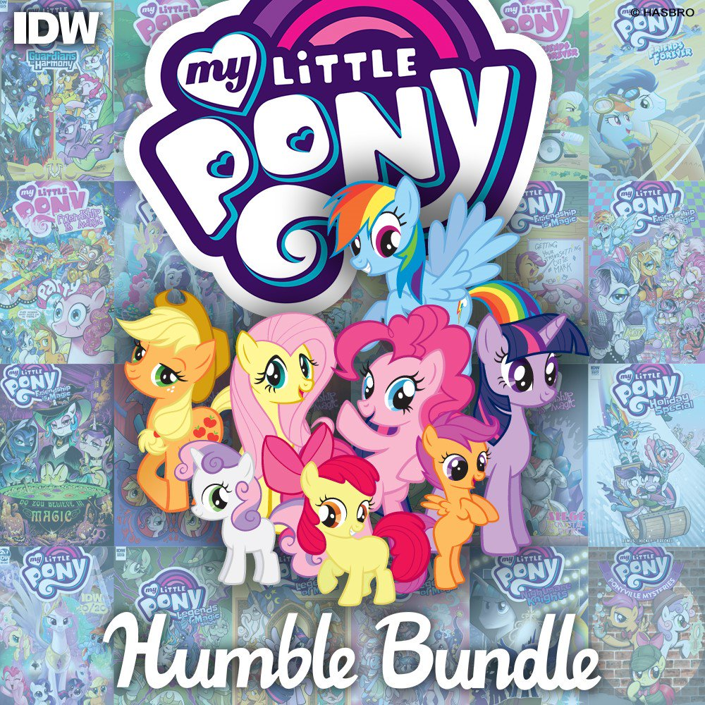 Calling all #MyLittlePony fans! Pay what you want for your favorite My Little Pony stories through @humble Bundle while supporting the Hasbro Children's Fund, bringing hope, kindness and joy to millions of children. bit.ly/3051VqJ