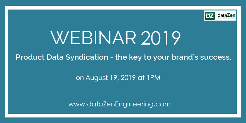"Do you want to know about ""Product Data Syndication – the key your brand's success""? Then join us in our Webinar-2019.  http://www. datazenengineering.com/event/webinar- august/   …  #dataZenengineering #webinar #data #onlinewebinar #dataservices #datamanagement #DataManagementSystem #allthingsdata<br>http://pic.twitter.com/jOIDlWdw4g"