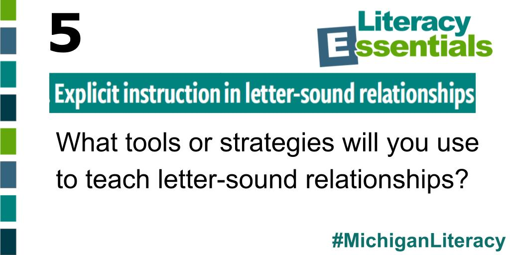Q5: What tools or strategies do you use to teach letter-sound relationships? #MichiganLiteracy<br>http://pic.twitter.com/QHx4klHwcz