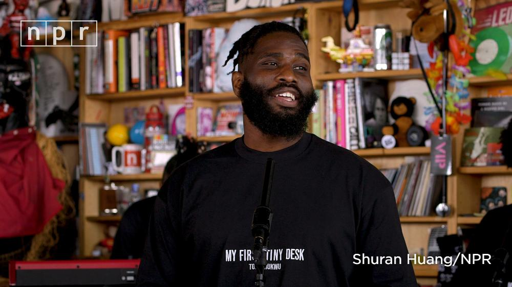 Houston rapper Tobe Nwigwe (@TobeNwigwe) made his Tiny Desk debut a family affair with an entourage that included his seven-week old daughter. n.pr/2za7BEm