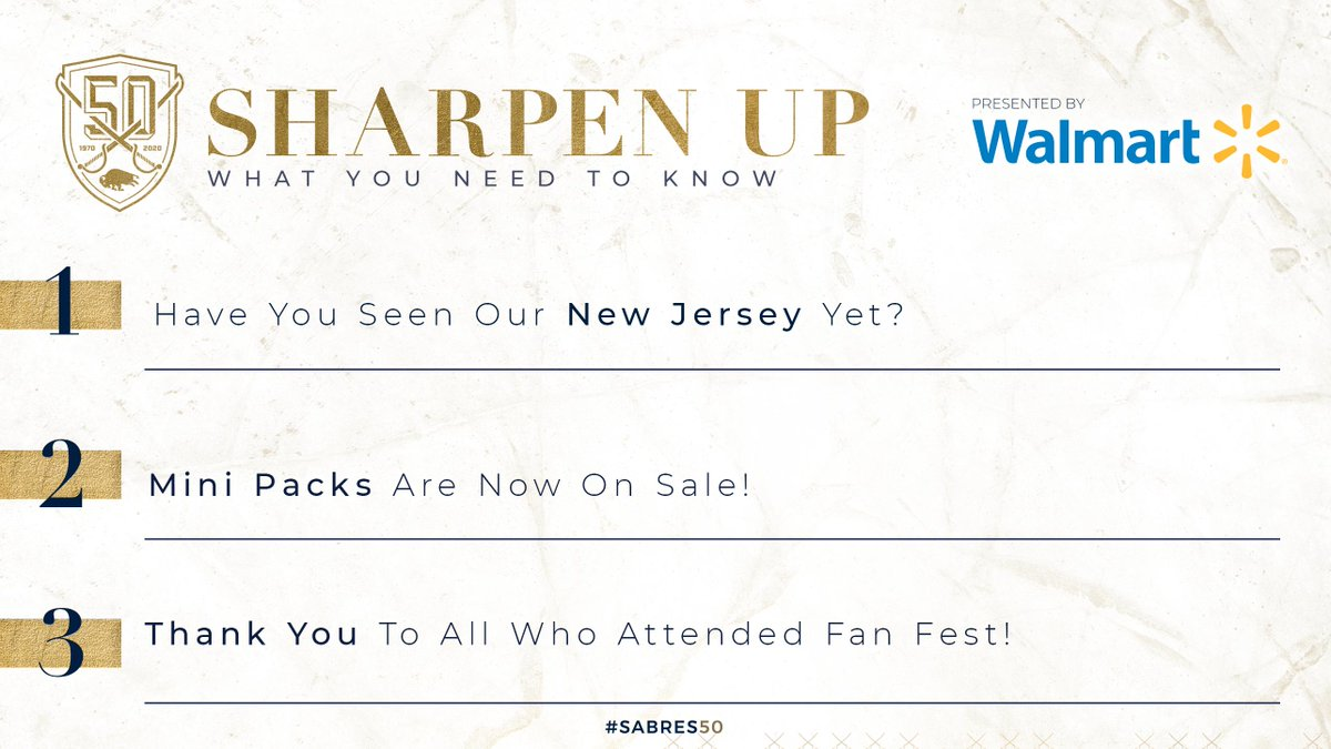 A new jersey, Fan Fest and more... Catch up in #SharpenUp: bufsabres.co/sciELD