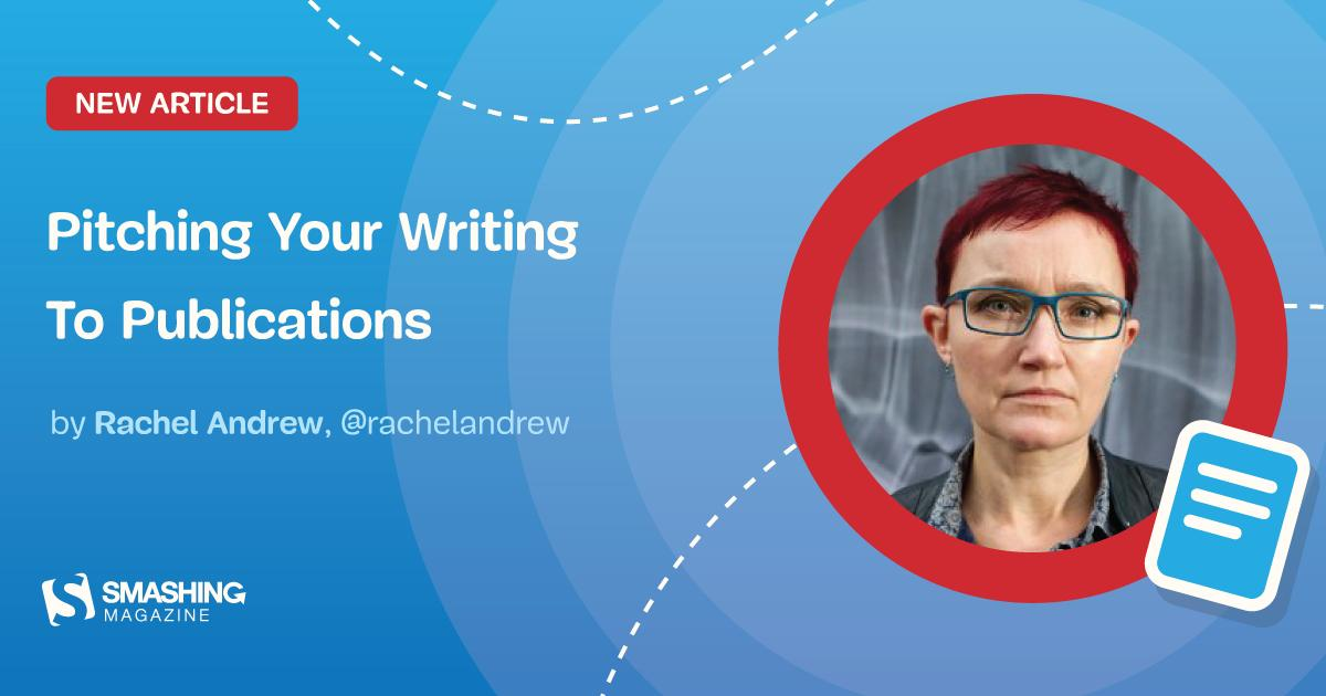 Do you have an idea to share or something you're very interested in writing about? Editor in Chief @rachelandrew explains how to pitch to publications and how to have the best chance of an accepted proposal. ✏️ Pitching Your Writing To Publications smashingmagazine.com/2019/08/pitchi…