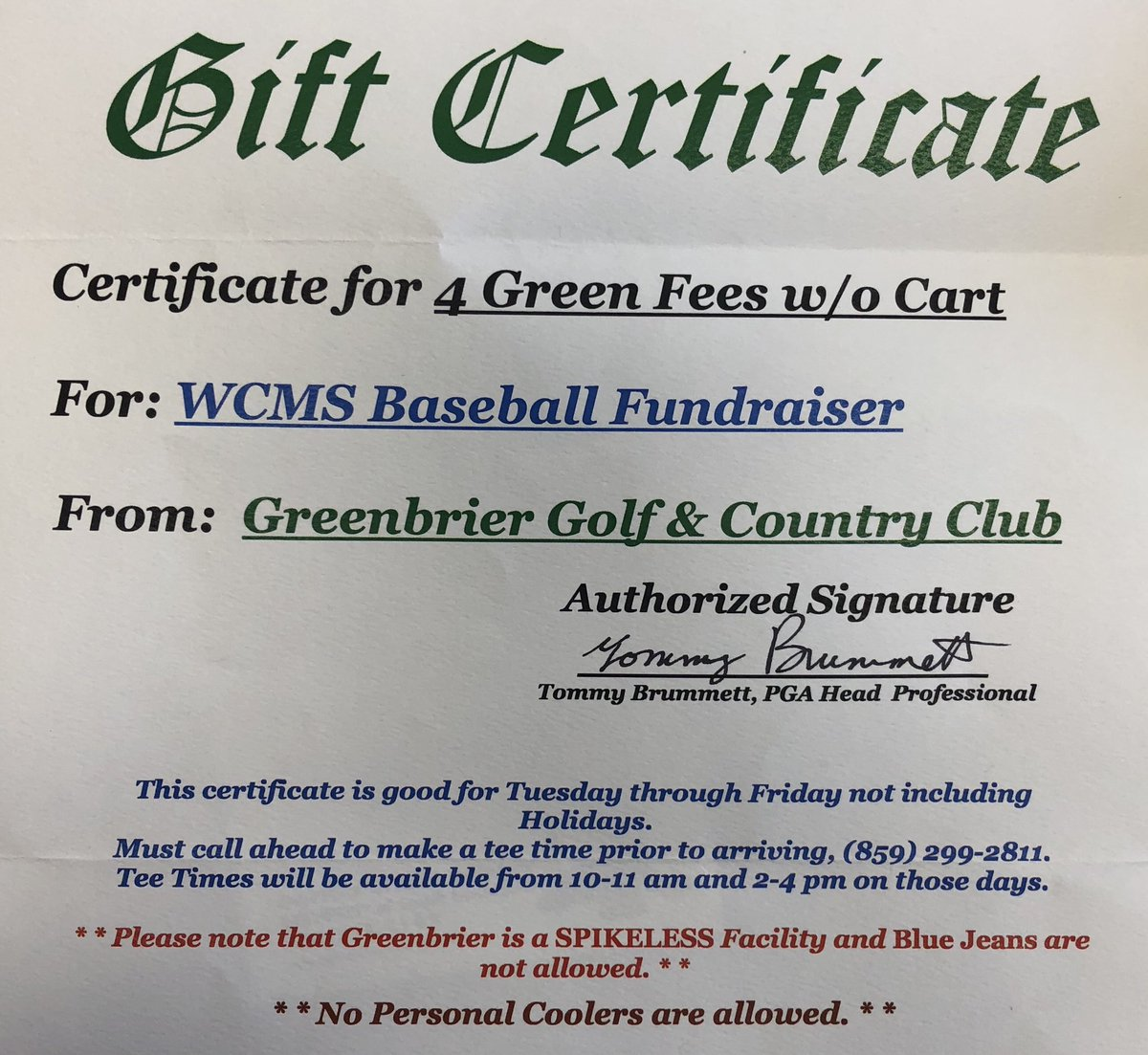 Jonesing for a day on the course? Like and retweet for your chance to win this gift certificate! #golfday <br>http://pic.twitter.com/9aEdhNZxMj