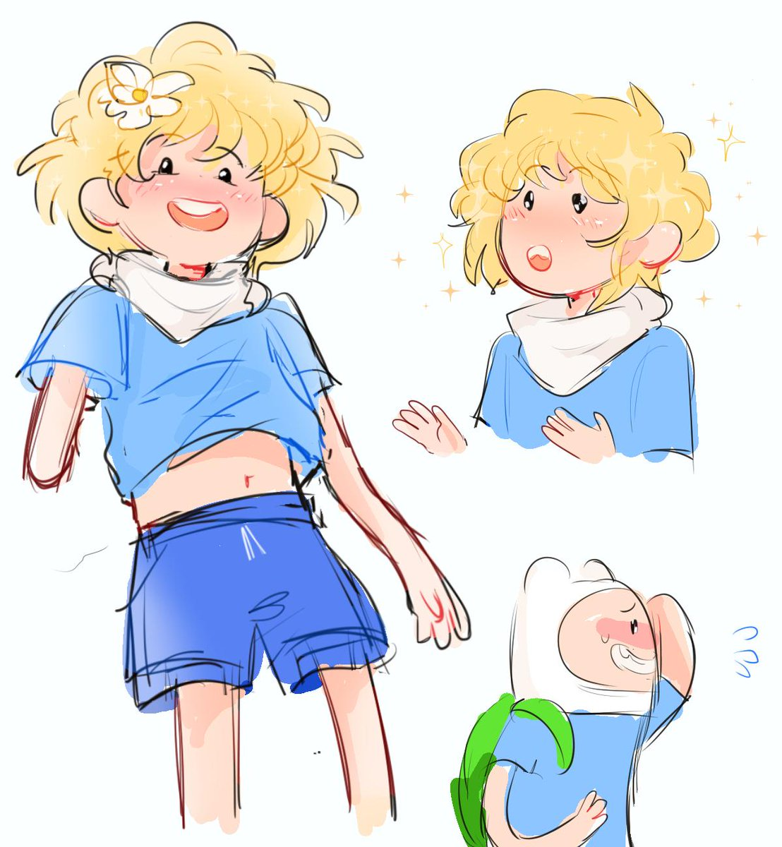 Redraw of an old ass drawing I did of Finn years ago with shoulder length hair.   #AdventureTime <br>http://pic.twitter.com/medS4hAfPG