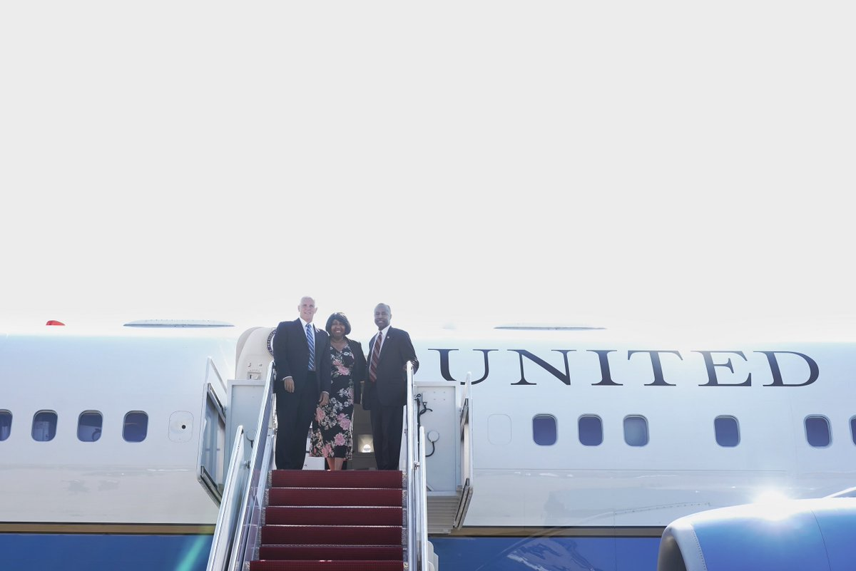 Traveling to the great state of Michigan with @SecretaryCarson to address the @deteconomicclub about how President @realDonaldTrump's economic agenda is WORKING for American families & American business! https://t.co/SRoX00OtzK