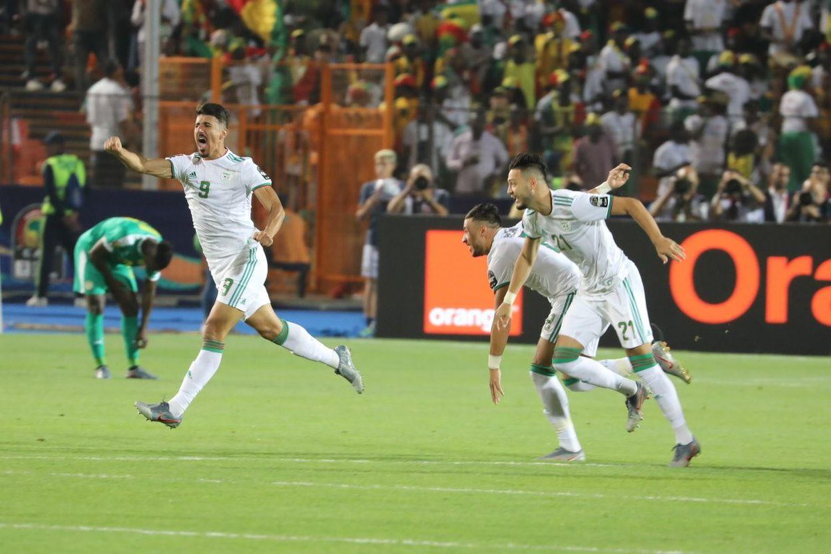 July 19, 2019 - Baghdad Bounedjah scores the only goal of the 2019 Africa Cup of Nations final to give Algeria it's second ever Africa Cup of Nations trophy #AFCON2019  #TeamDZ<br>http://pic.twitter.com/xlk4ZdojD0