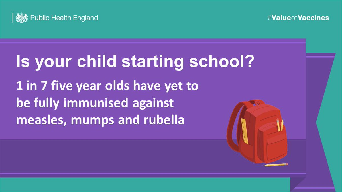 📢NEWS: New estimates show 1 in 7 five year olds have yet to be fully immunised against MMR: bit.ly/30iqOiP #ValueofVaccines
