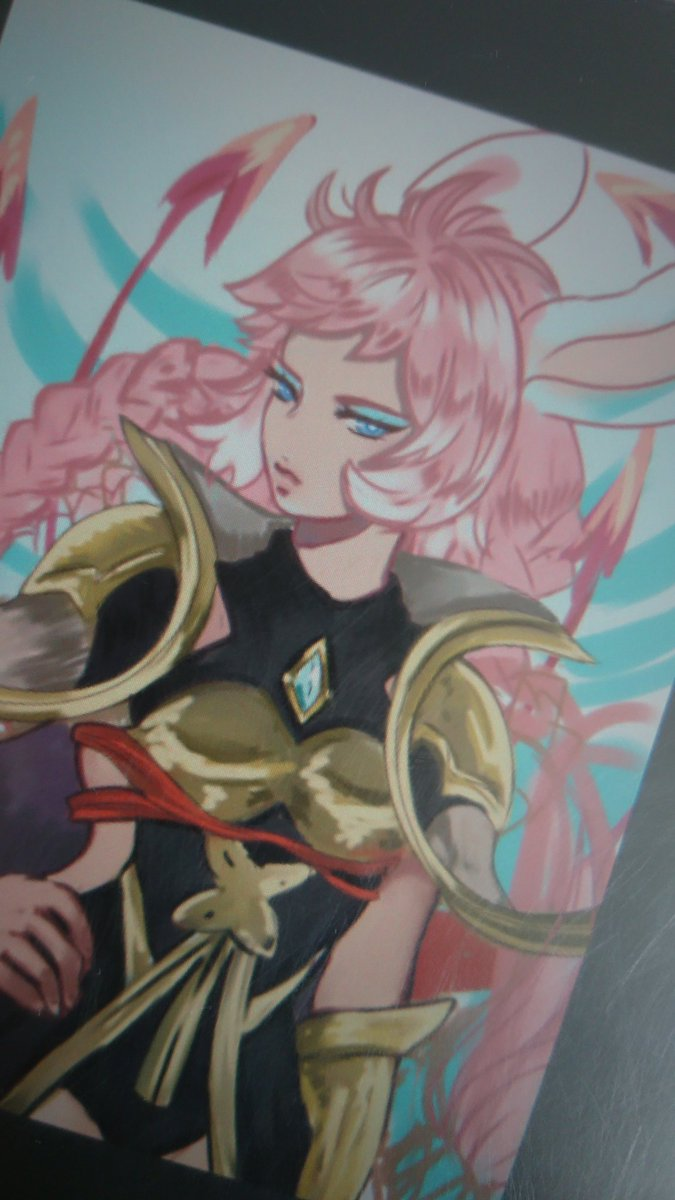 Am currently working on Tien, one of my favorite eternals in #granbluefantasy! She's so cool and I love pink hair. <br>http://pic.twitter.com/Oj7gSafvo4