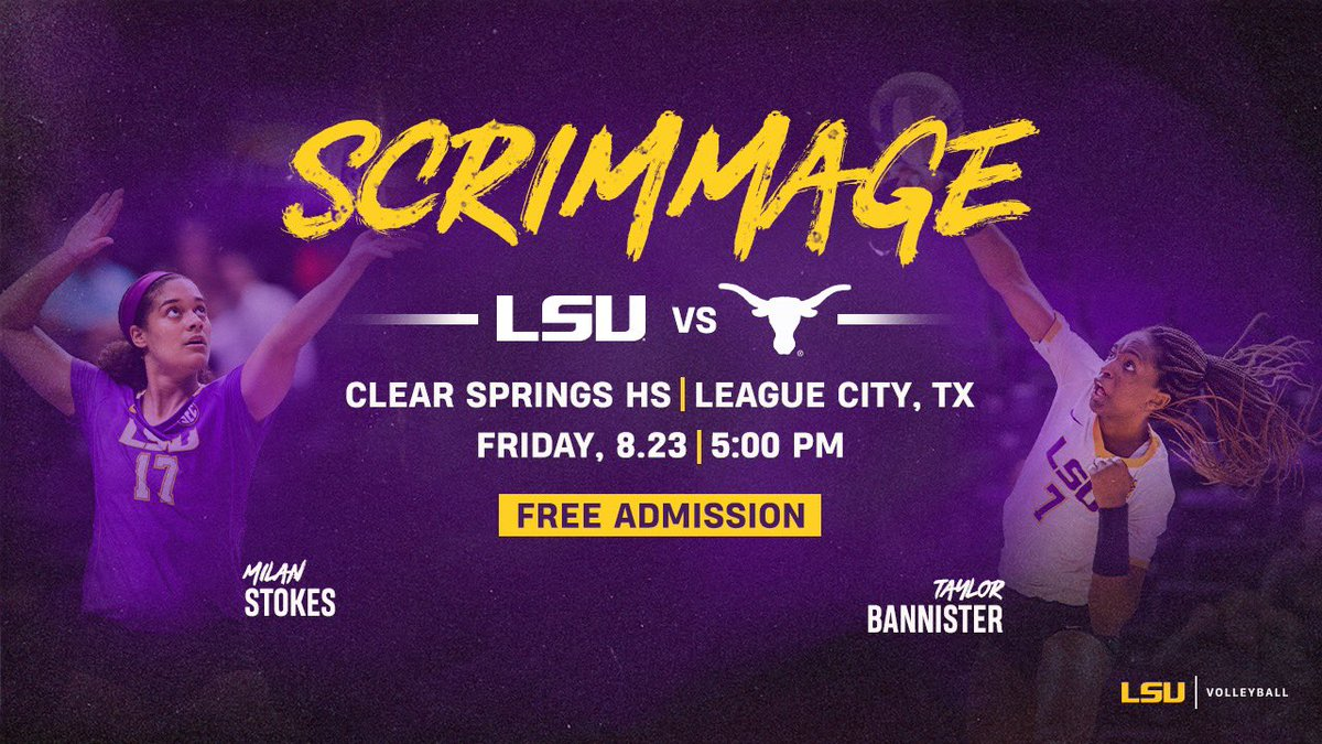 First look of our 2019 squad this Friday in Houston as we scrimmage against Texas!   FREE ADMISSION!   :  http:// lsul.su/2HeUXrY       #GeauxTigers <br>http://pic.twitter.com/bE82w04xeu