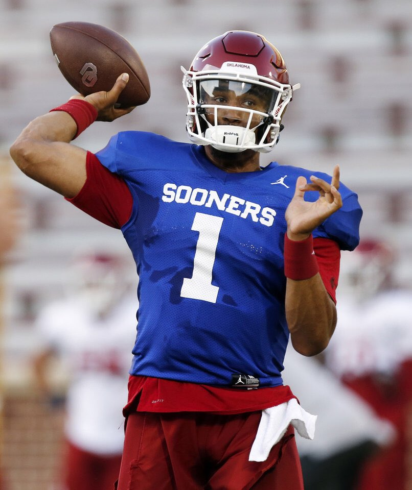 Oklahoma names Jalen Hurts the starting QB week 1 vs Houston