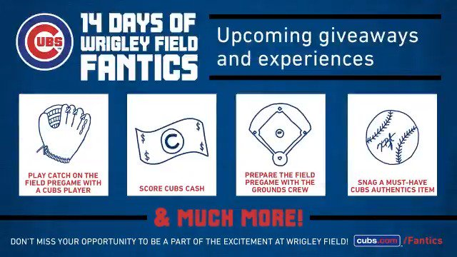 An experience you can only get at Wrigley Field this August. Will you be the lucky fan?  #EverybodyIn https://t.co/yWRMvGykHx