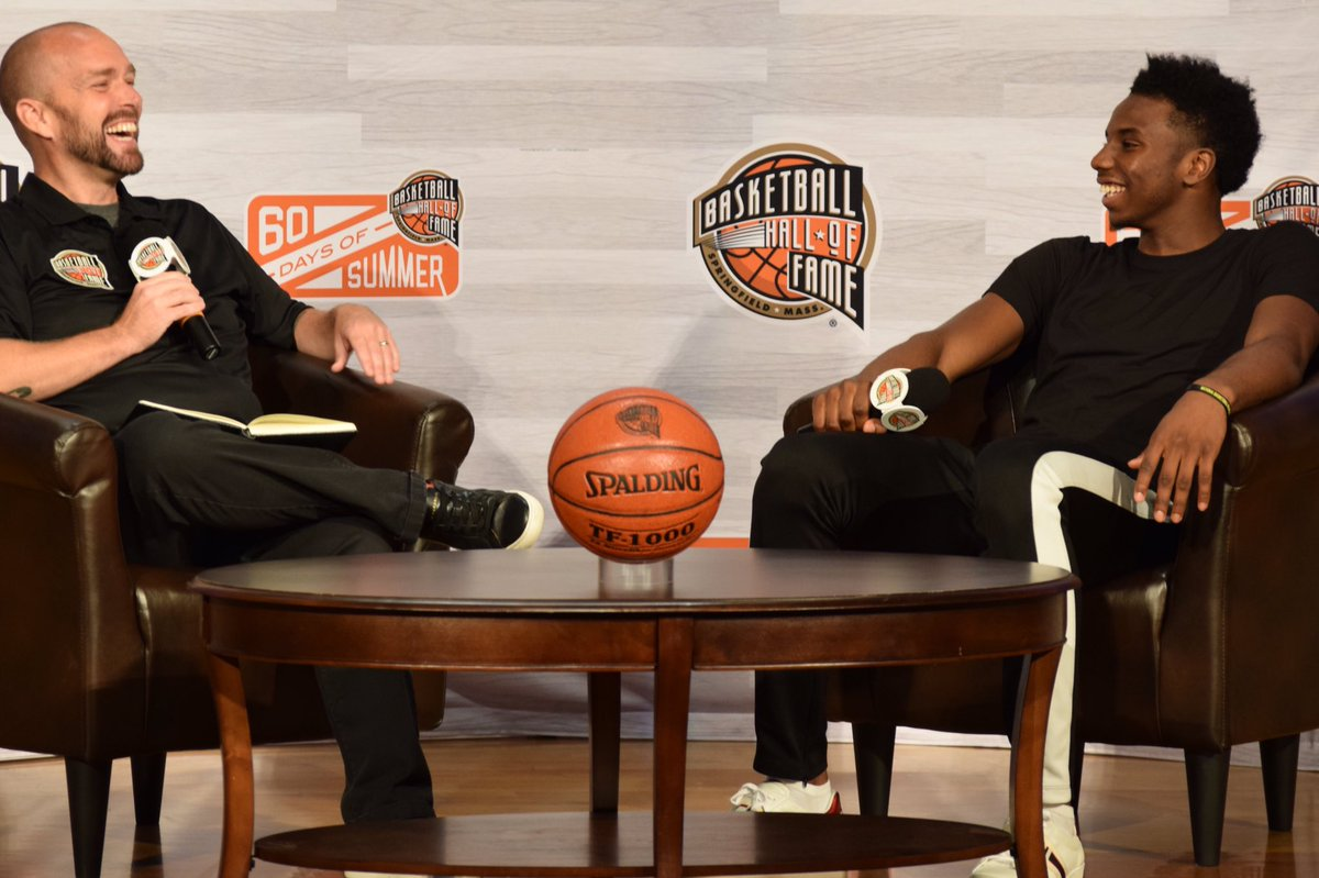 Had an awesome time chatting with reigning #NBADunkChamp @HamidouDiallo today on @HoopHall Center Court.  #60DaysOfSummer