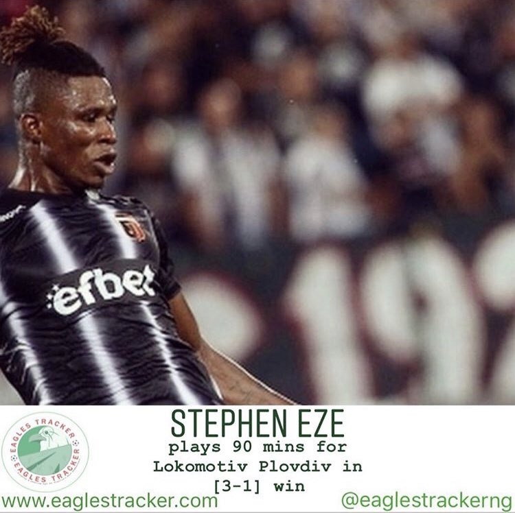 Stephen Eze @DefendLikeEze was solid in #lokomotiv #plovdiv [3-1] win over #dunav #ruse in the #bulgaria #first #professional #league ————— More on eaglestracker.com Link in bio ————— #eaglestracker #naijafootball #stepheneze #defendlikeeze #lokomotivplovdiv #dunavruse 🦅🇳🇬