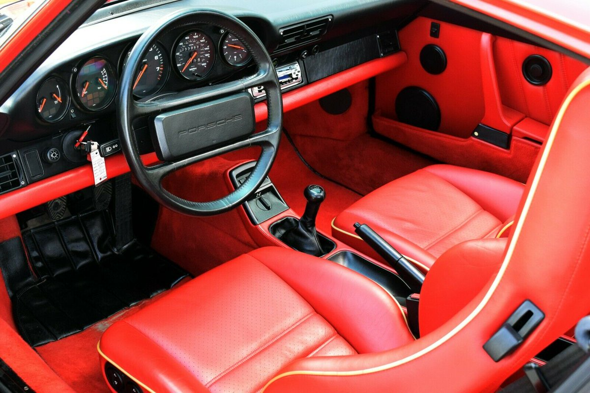 Porsche Marketplace On Twitter This 1989 Porsche 964 Carrera 4 Coupe Is Finished In Guards Red With A Special Ordered Matching Red Leather Interior It Has Just Under 56k Original Miles And