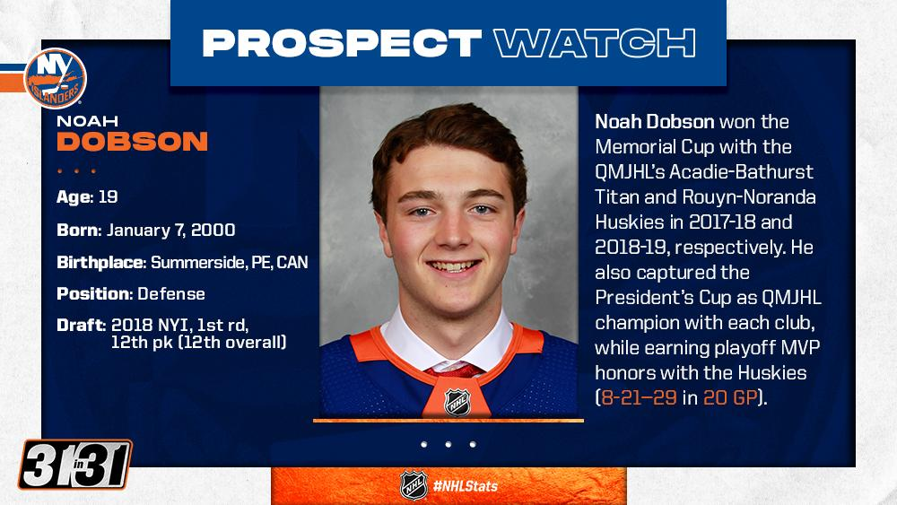 There was some serious hardware added to @_ND53s collection recently. Will he suit up for the @NYIslanders in 2019-20? More top prospects: bit.ly/31MM7cL #NHLStats #31in31