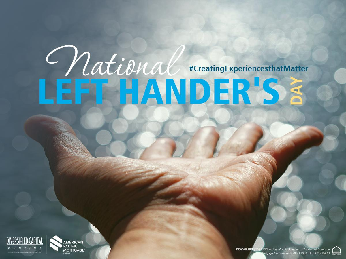 Are you a lefty? Today is your day! #NationalLeftHandersDay The first day this holiday was celebrated was Friday the 13th, August 1976, created by Publicist Dean R. Campbell. Can you name all nine left-handed U.S. Presidents?  #FunFacts
