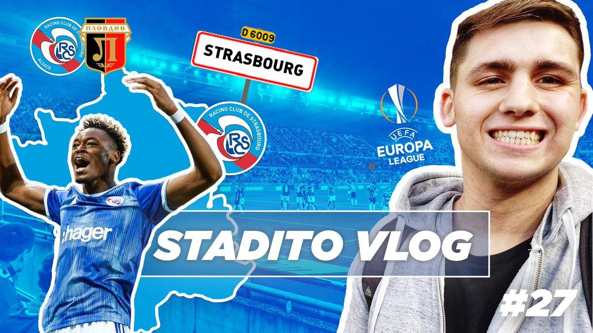 Ce soir, cest la coupe dEurope 🔥 @StaditoFootball était de passage à Strasbourg pour un épisode (25mn) consacré à notre Racing 📽️🔵⚪️ ➡️youtube.com/watch?v=vJYHOs… #AllezRacing #LiveRCS @BasileBrigandet