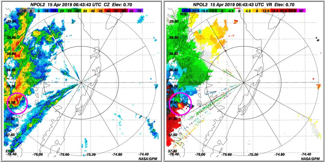 Did you know that ground radars such as the #NASA S-Band Dual-Polarimetric Radar (NPOL) provide validation measurements that bridge the gap between satellites and instruments on the surface (e.g. rain gauges)? Check out this thunderstorm captured by NPOL in April 2019.