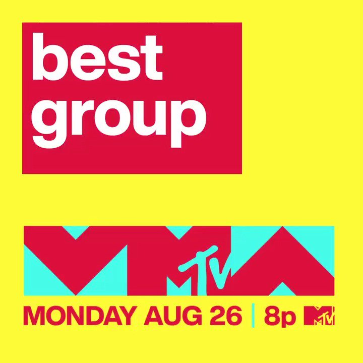 🎶AND THE BEST GROUP NOMINEES ARE….🎶 Head to @MTV's IG Story NOW and swipe up to vote for your pick! 📲 Watch the 2019 #VMAs Monday, August 26 at 8p on @MTV 🚀