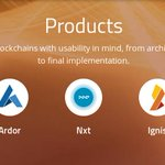 Image for the Tweet beginning: #Ardor, #Nxt, and #Ignis #blockchains